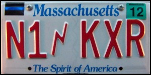 License plate for N1KXR